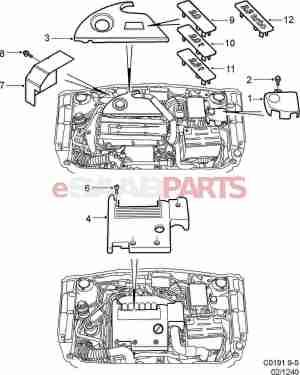 [5956958] SAAB Engine Cover  Genuine Saab Parts from