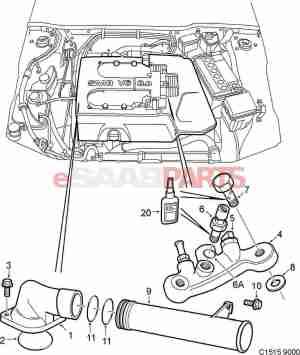 [90490477] SAAB Engine Coolant Temperature Sensor  Genuine Saab Parts from eSaabParts