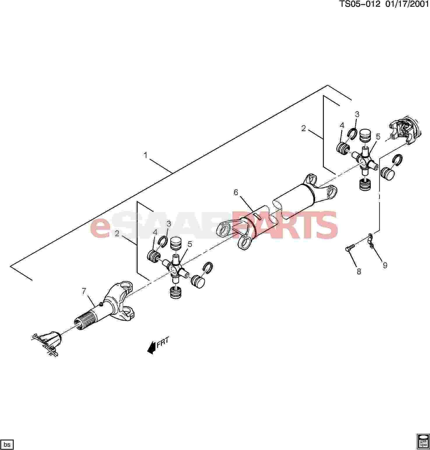 Saab Joint Kit Prop Shf Rear Universal
