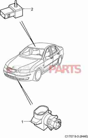 [9152245] SAAB Outside Temperature Sensor  Genuine Saab