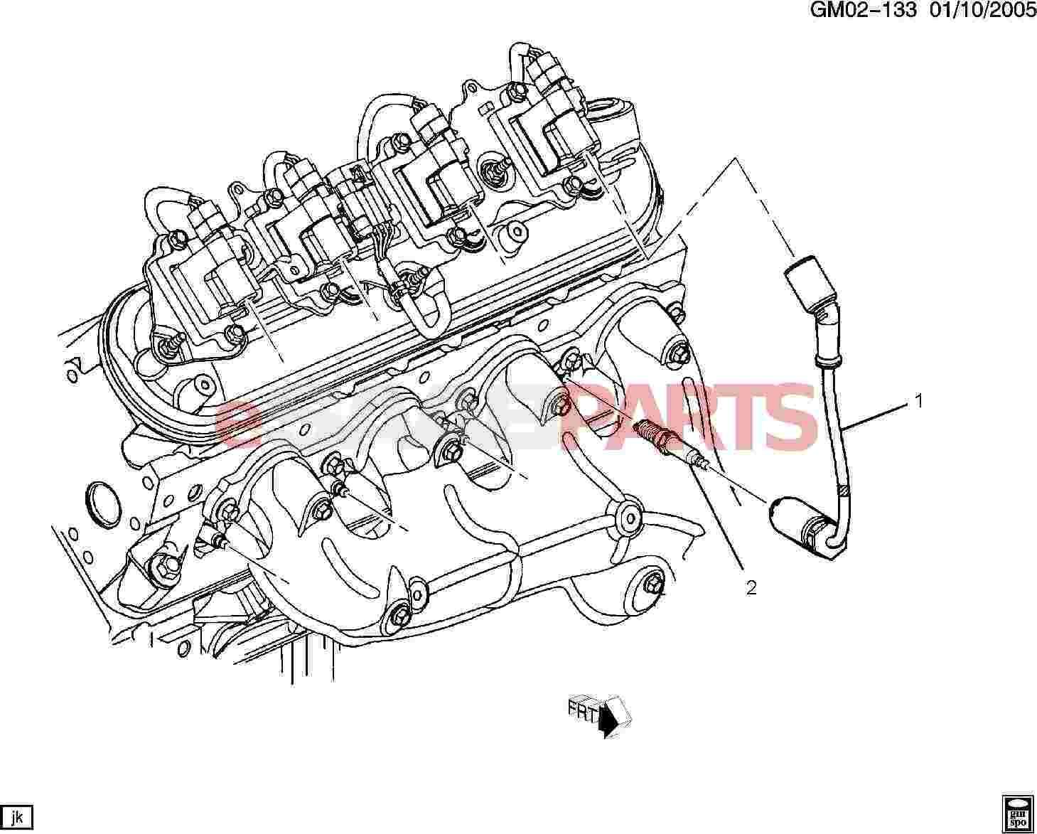 Saab Spark Plug 5 3l 6 0l