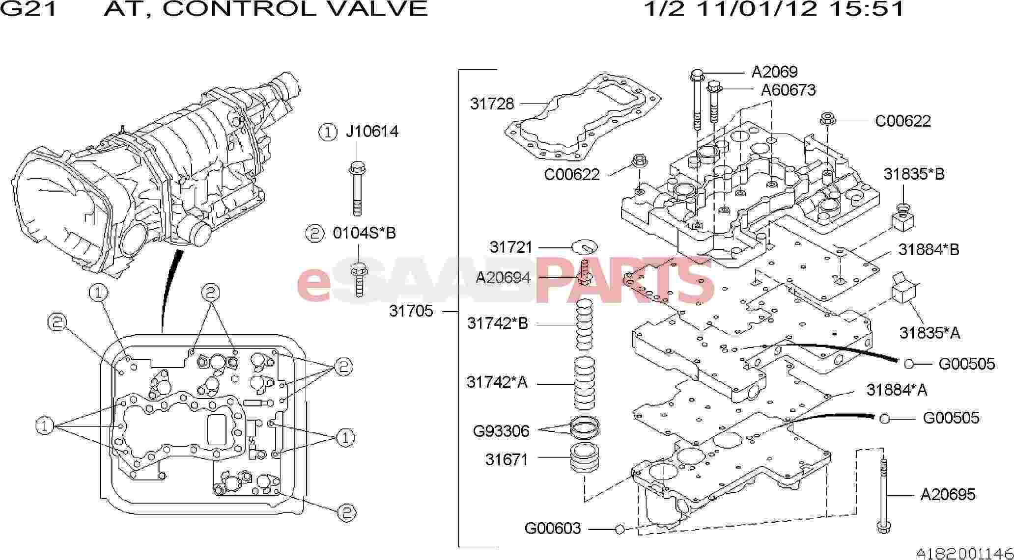 Saab Valve Assembly Control