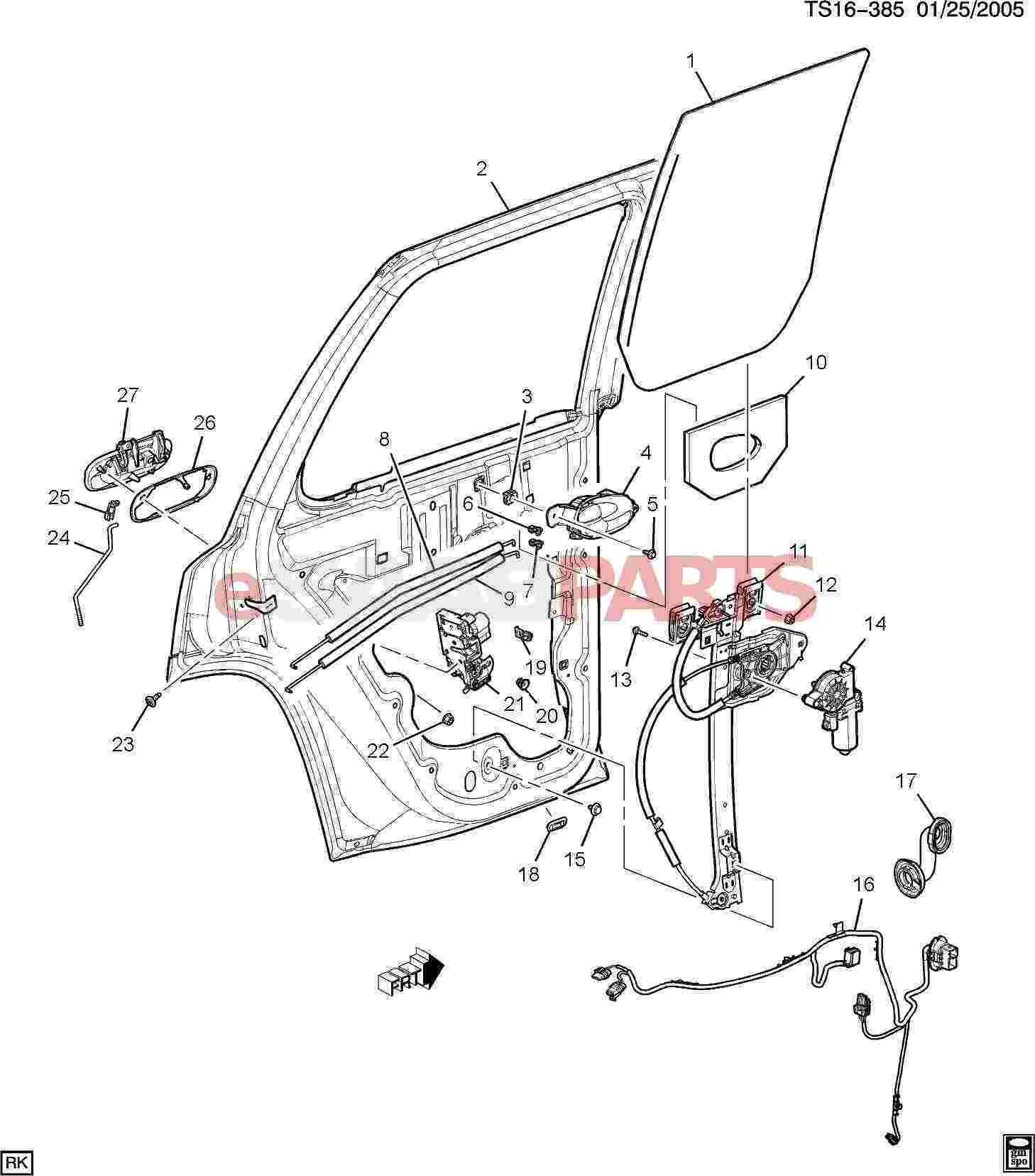 Saab Handle Rear S D O S