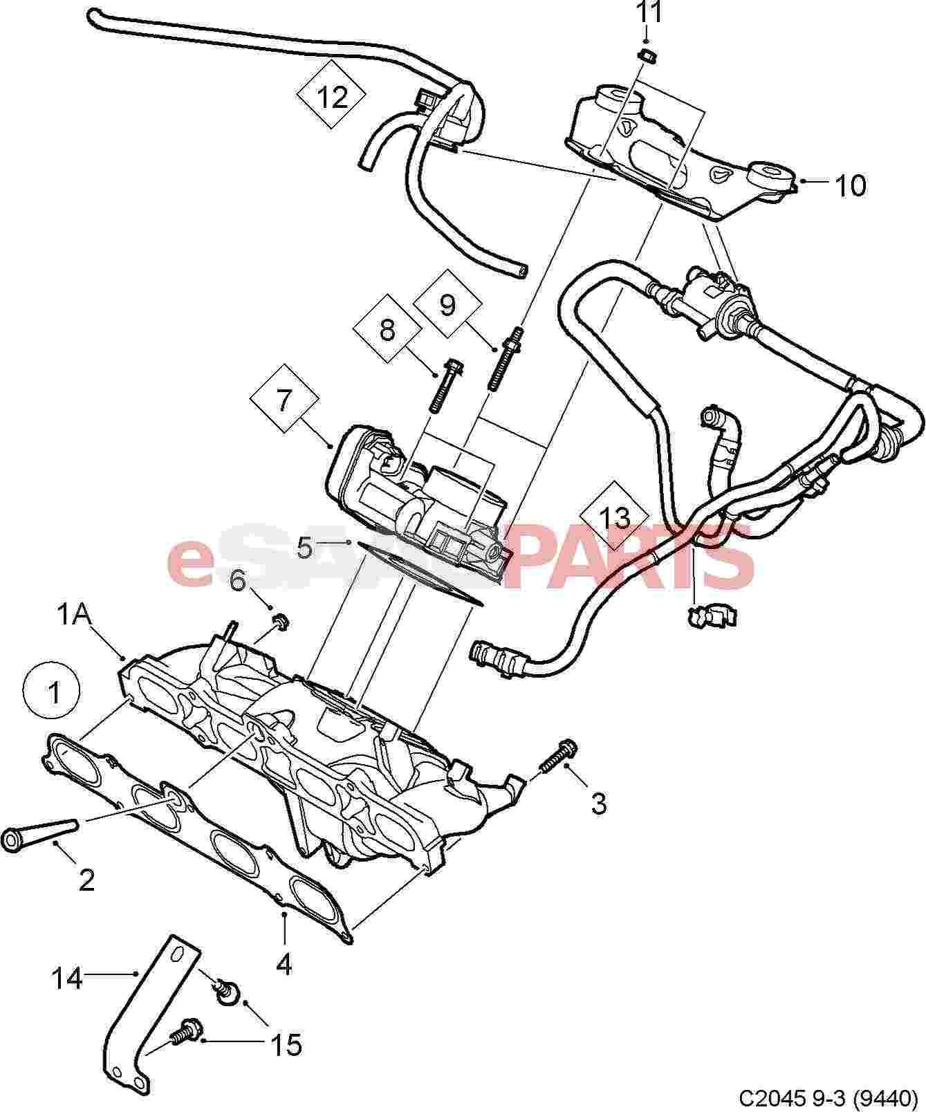 Saab Positive Crankcase Ventilation Valve