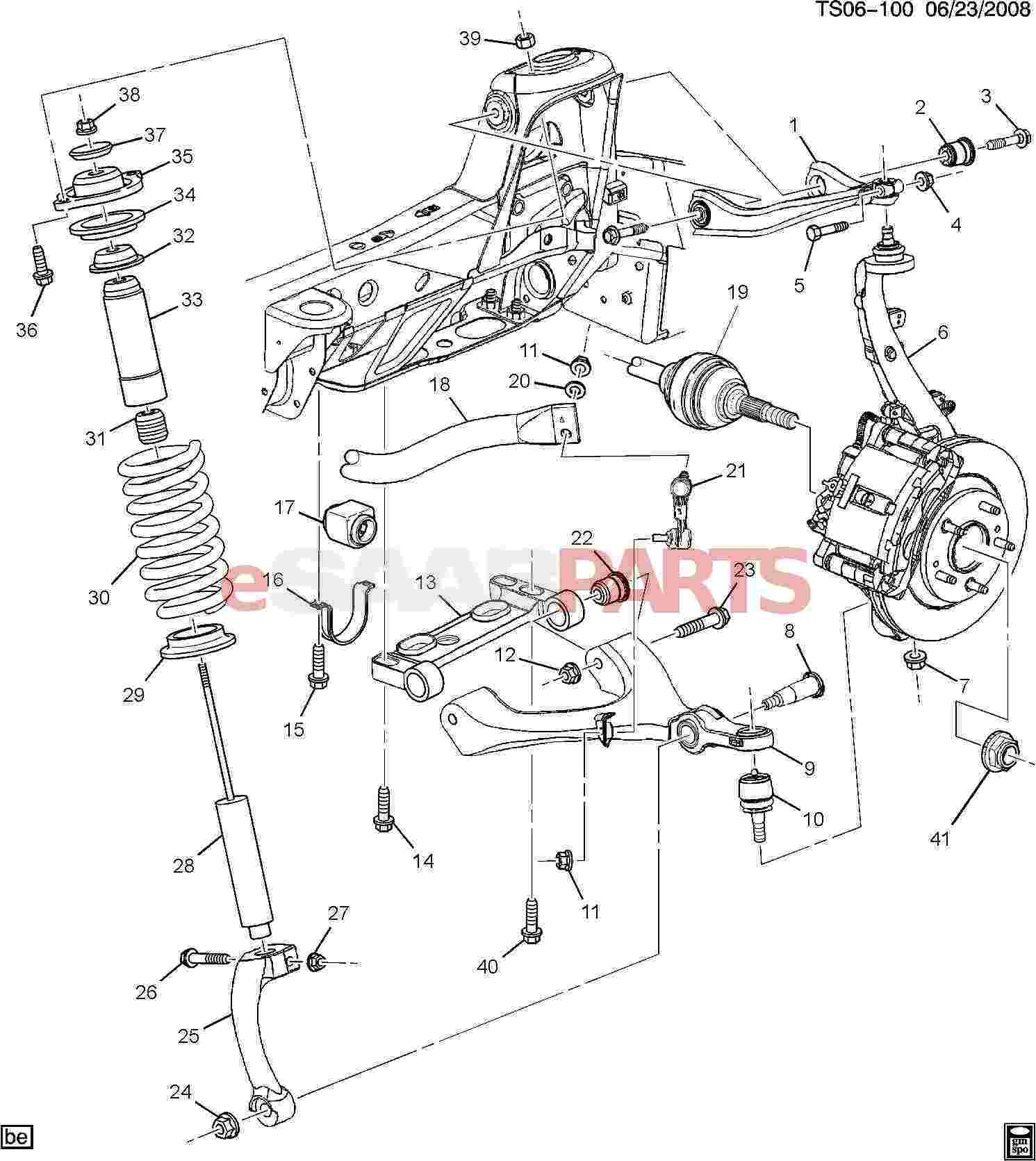 Saab Bracket Front Lower Cont Arm
