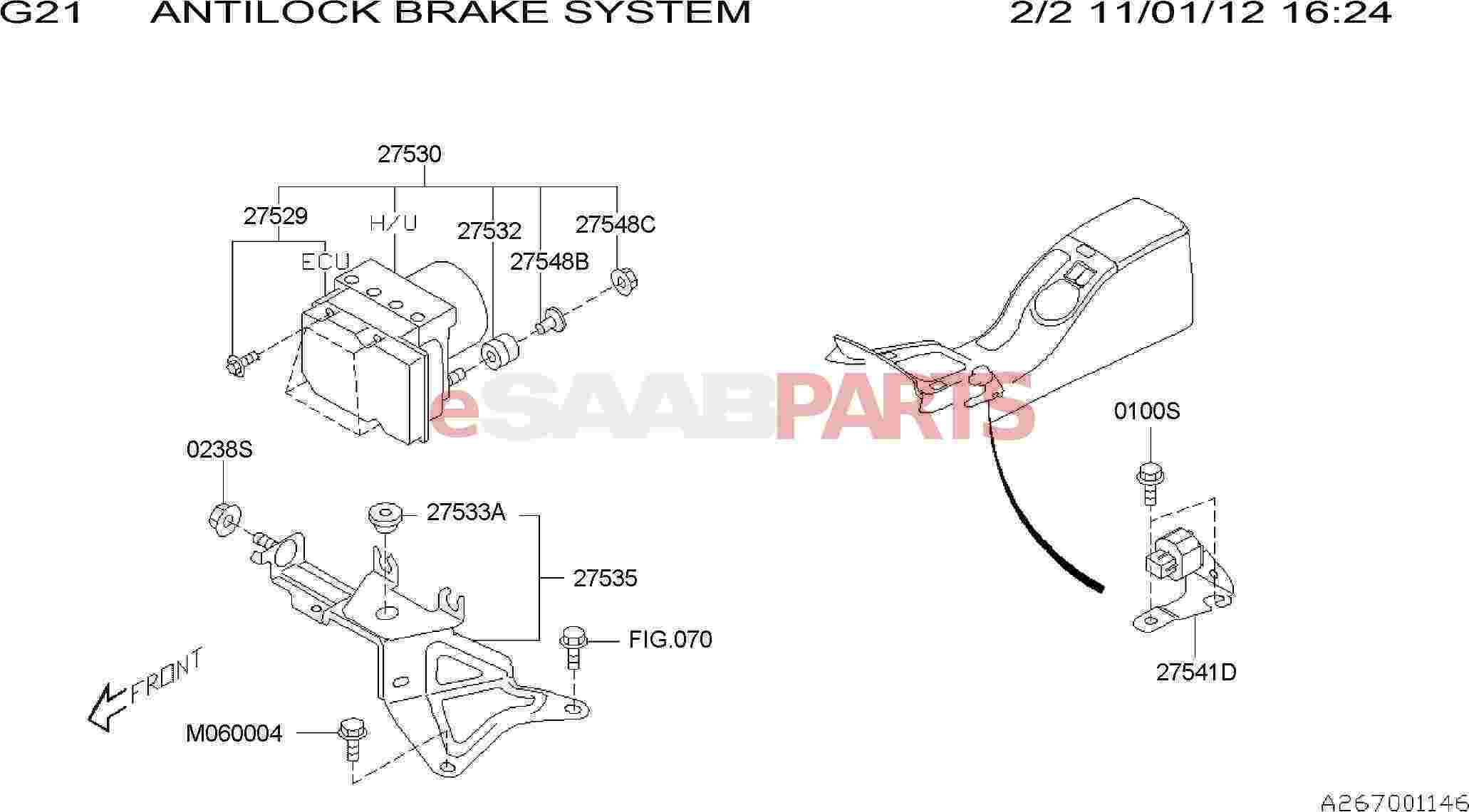 Saab Spacer Abs Unit