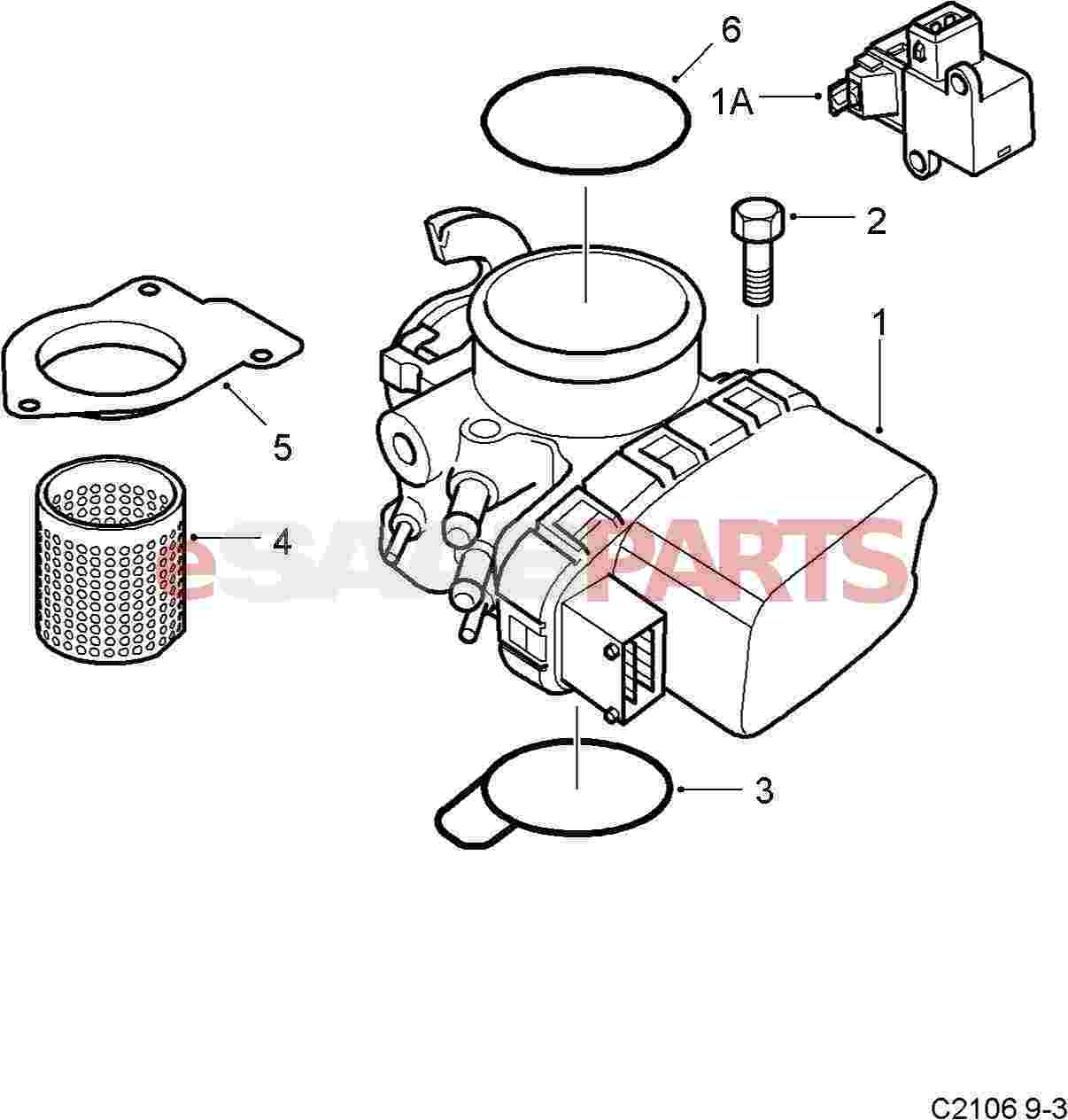 Saab Throttle Body