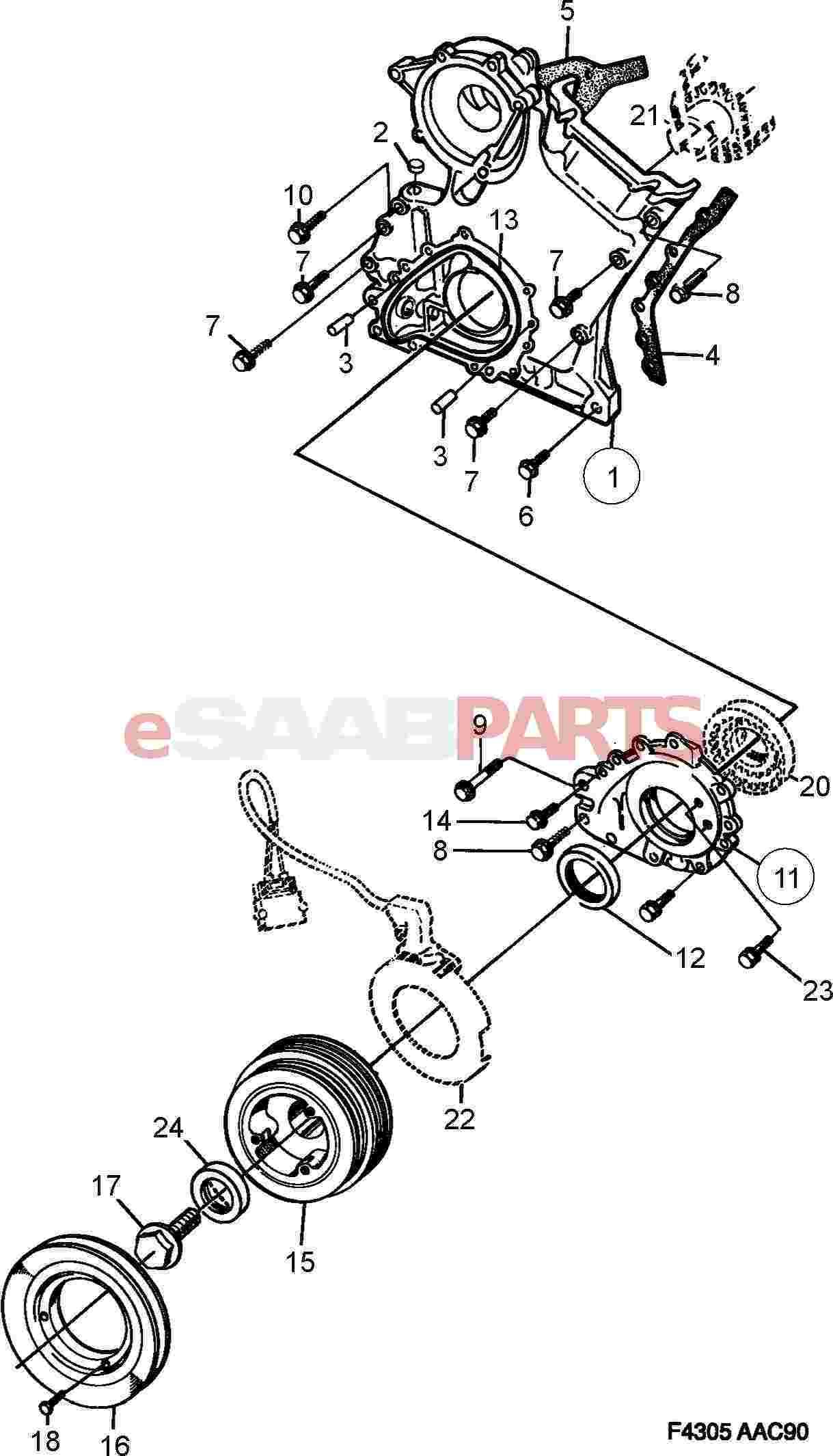 Saab Crankshaft Seal