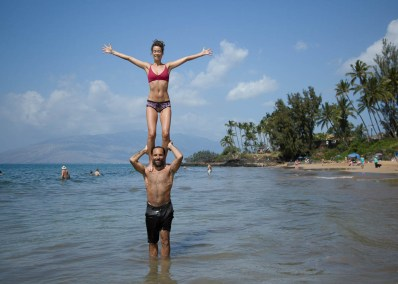 Synergy ~ Kihei, Maui ~ January 2017</br> Synergy is when 2 separate energies combine to make a third energy; it is the notion that the whole is greater than the sum of its parts. These 2, Jasmine and Francisco, are my partners and make all the work I do, and the retreats I lead, better. I co-led my first retreats in Mexico with Francisco and we also lead retreats together in Peru.