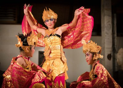 Yayasan dancers and Gamelan ~ Pemuteran, Bali ~ April 2016</br> The Gamelan is a traditional Balinese orchestra with dozens of simple folk instruments that combine to make a very full and complete sound. These traditional dancers display tremendous dexterity, body control and skill. This photo was taken during a mesmerizing evening at the Jeda Villa resort.