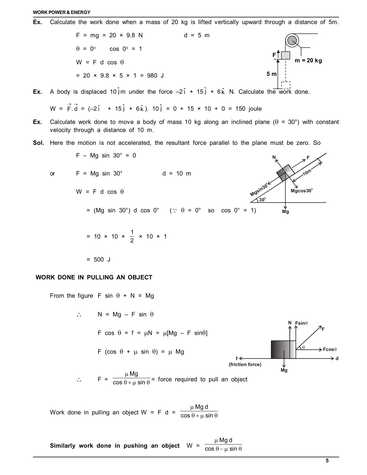 Work Energy And Power Class 11 Physics Notes Archives