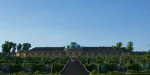Vista desde el Parque de Sanssouci al Palacio de Federico el Grande