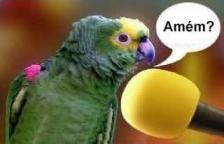 piadas para crentes, humor, deus é humor, papagaio pregador