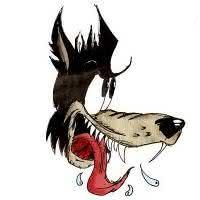 Esboços e ilustrações: O lobo bom e o lobo mau