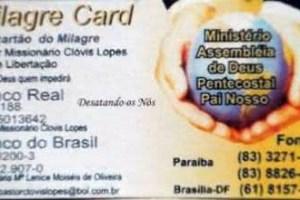 """Você já tem o seu """"Milagre Card""""?"""