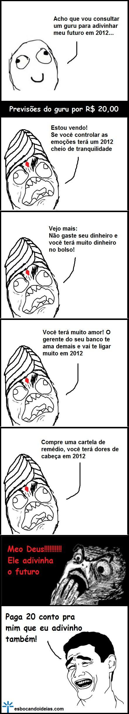 tirinha, humor, deus é humor, previsões 2012
