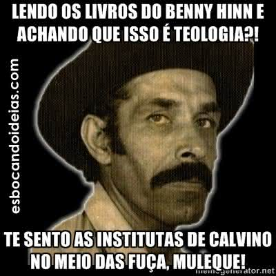 Tirinhas: Calvino e Benny Hinn