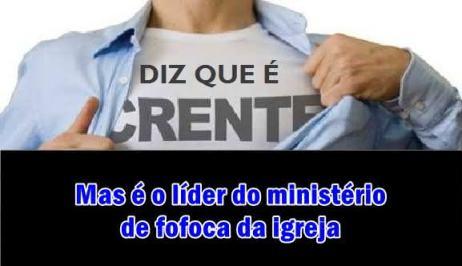 Ministério de fofoca na igreja