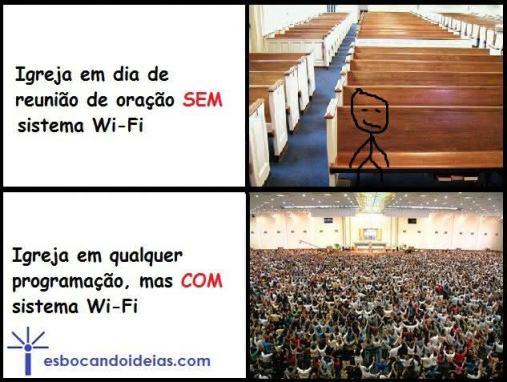 Igreja com wi-fi é sucesso
