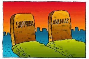 Qual foi o pecado de Ananias e Safira? Foi ofertar pouco a Deus?