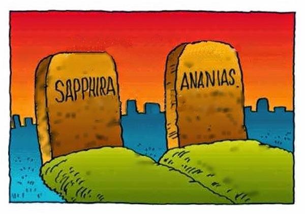 Qual foi o pecado de Ananias e Safira?