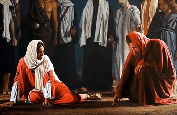 Por que Jesus não mandou apedrejar a mulher adúltera se a lei mandava isso?