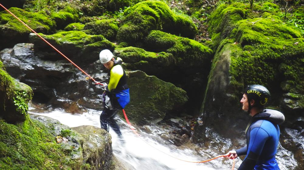 canyoning en franche comté avec Julien Carraud