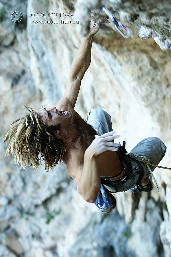 Chris Sharma en Petzl RocTrip Kalymnos 2006