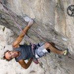 Jordi Salas escalando en Tres Ponts