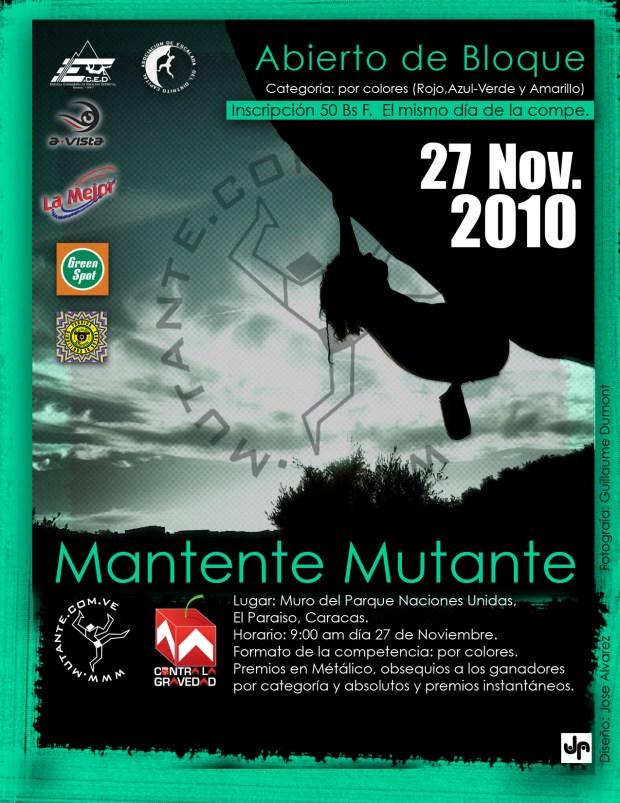 Poster Abierto de Bloque Mantente Mutante