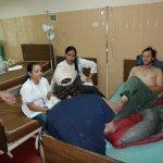 El escalador Cory Nauman en el hospital