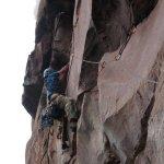 Alfredo Zubillaga en Fuga Hospitalaria 5.12c/d – L15 550 metros en el Tepuy Upuigma