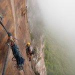 Shane Houbart en Fuga Hospitalaria 5.12c/d – L15 550 metros en el Tepuy Upuigma