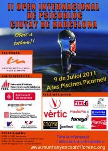 """2do Open Internacional de Psicobloc """"Ciutat de Barcelona"""""""