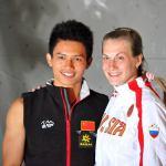 Campeones del Mundo de Escadala en Velocidad IFSC 2011 Arco - Foto Diego Patete