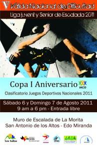 Invitación 5ta Valida Copa Venezuela de Escalada en Dificultad FEVME 2011
