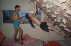 Jerry Moffatt y Ben Moon entrenando. Foto: Colección Jerry Moffatt