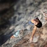 Marieta Cartró en China Crisis 8b+ en Oliana – Foto Carlos Pérez Díaz
