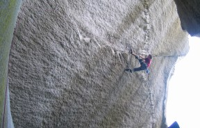 Chris Sharma en Dreamcatcher 9a - Petzl RocTrip Scuamish 2005