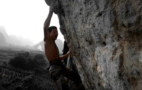 Video de escalada deportiva: China climb 8c por Da Wei en Yangshuo