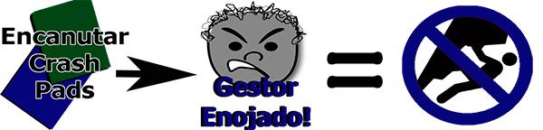 No esconder crashpad bajo los boulder – Campaña Acceso PanAm El Gorila dice