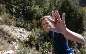 Video escalada deportiva Sasha DiGiulian en La Rambla 9a+ en Siurana