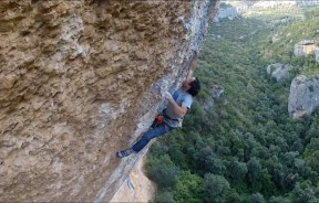 Video escalada deportiva Diego Marsella en Era Vella en Margalef