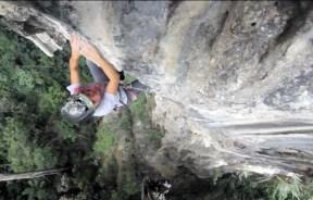 Video escalada deportiva; Los Ojos del cacique, escalada en El Porton de Brazuelos Colombia