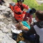 Grave accidente escalada de Mina Leslie Wujastyk en su proyecto Rainshadow 9a