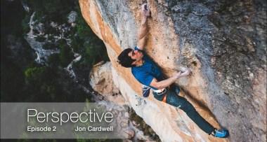 """Perspectiva"" Jon Cardwell en La Rambla 9a+ en Siurana"