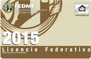 Licencia FEDME 2015