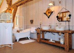 La Loge Vigneronne, Changy (Marne) : salle de bain