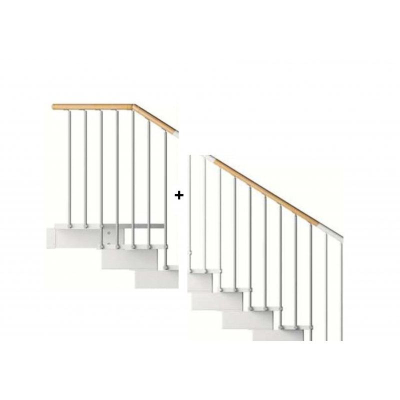 rampe exterieure premiere volee 1 4 t mc bois pour escalier pas cher