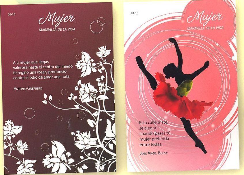 Postales por el Día Internacional de la Mujer a la venta en Cuba. Fuente Periódico Escambray